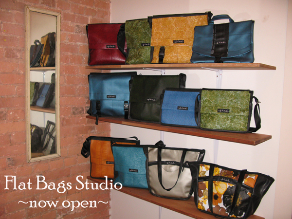 Studio Shot of bags on shelves copy